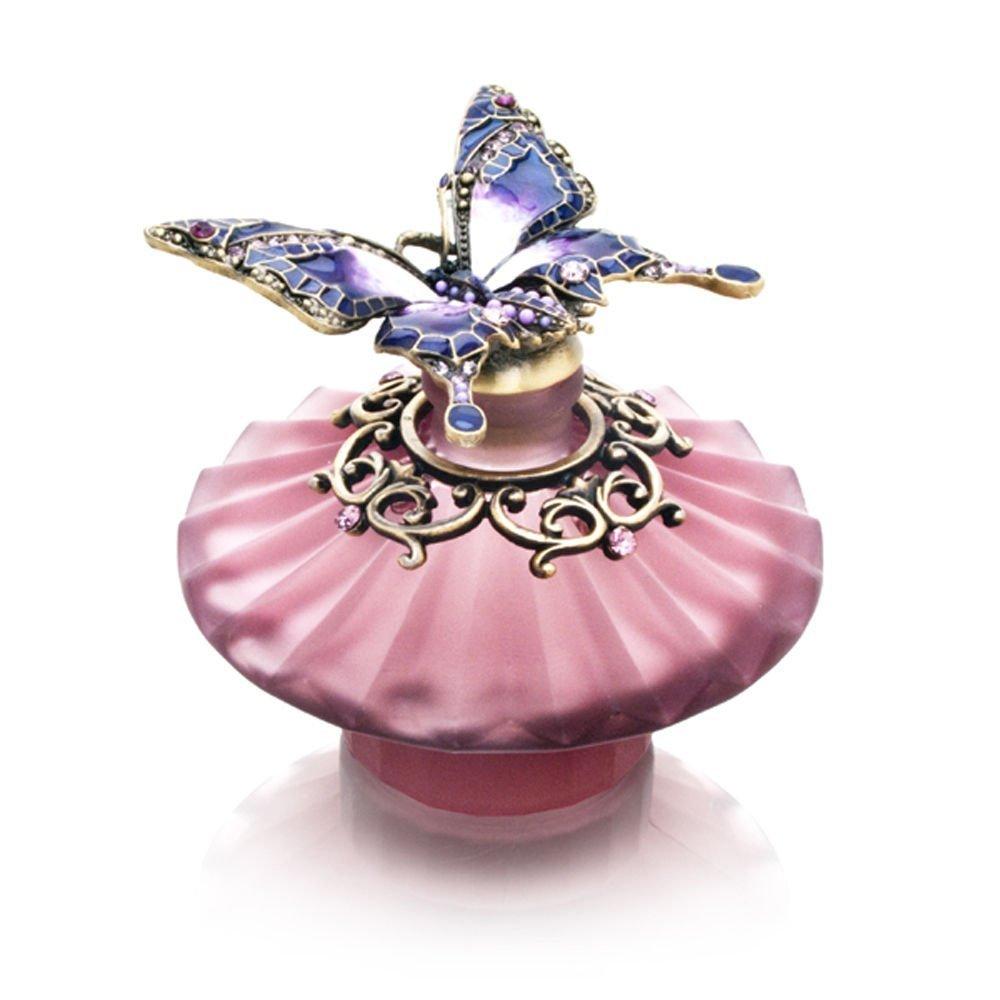 Purple Butterfly with Purple Stones Decorative Perfume Bottle Model No. PB-001