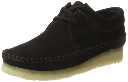 Clarks Originals Women's Weaver. Derby, Black (Black SDE), 3 UK