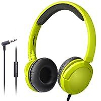 Avantree LONG CORD Wired Headphones w/ Microphone (Yellow Green)