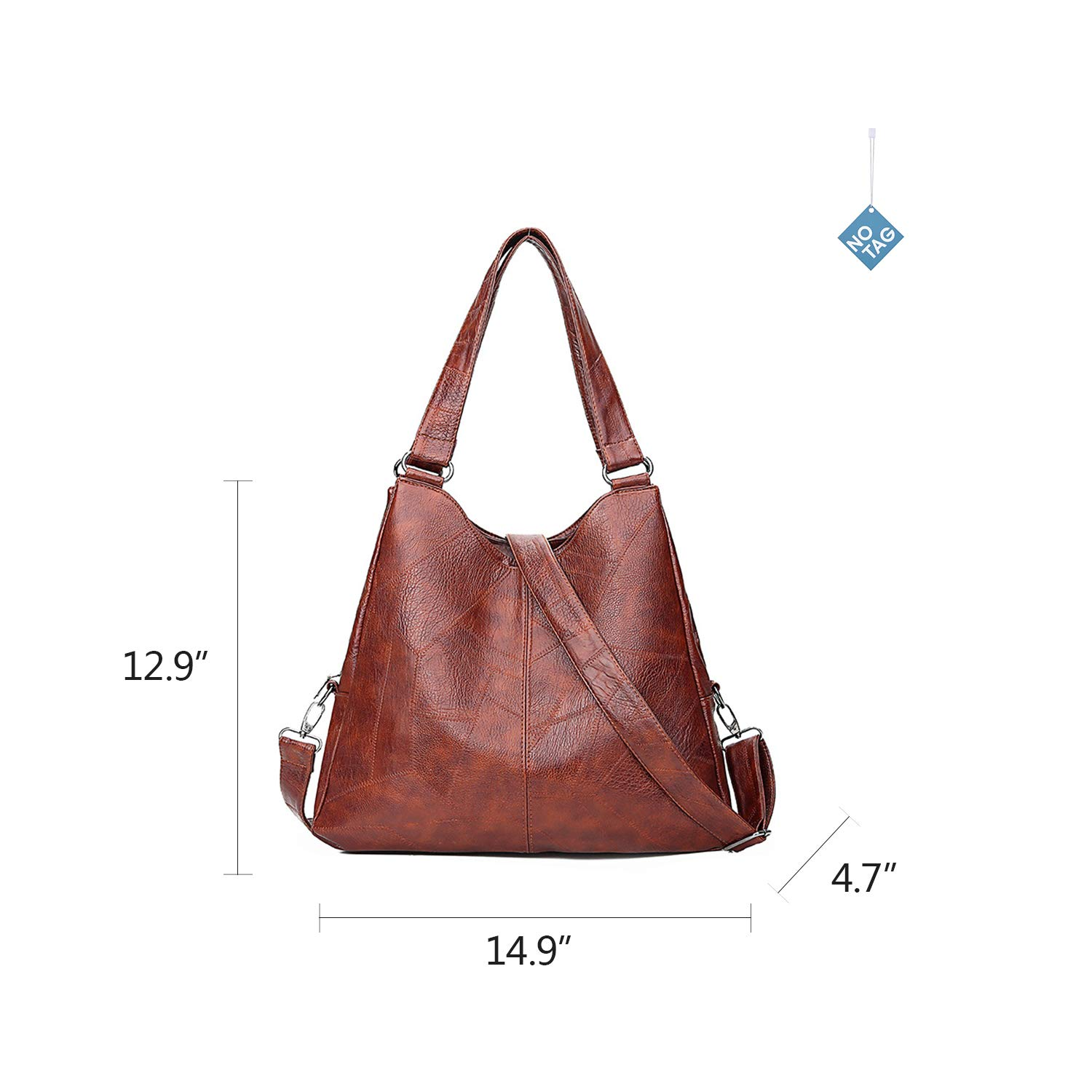 9dbae6690740 Amazon.com: NOTAG Leather Hobo Bags for Women Large Shoulder Bags ...