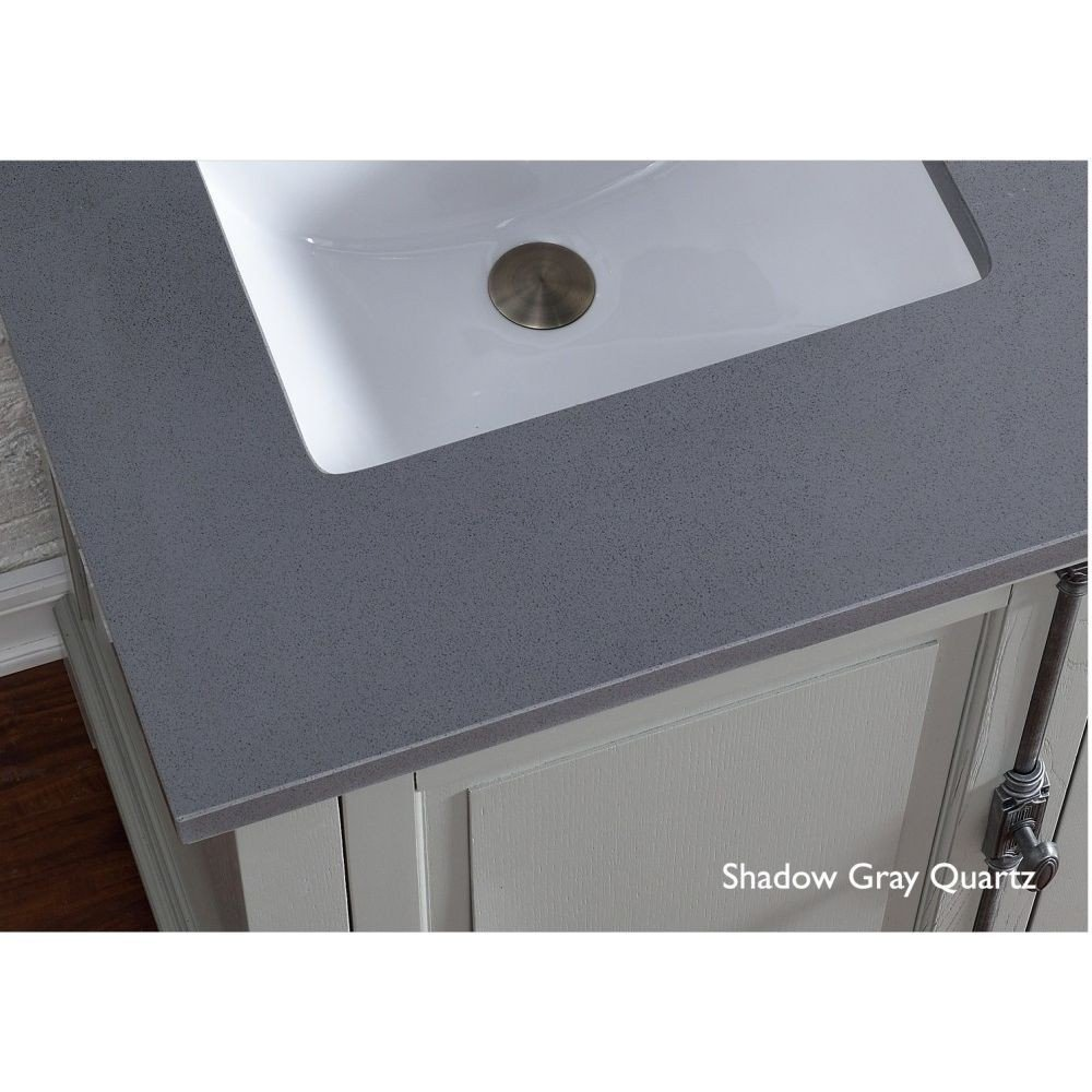 James Martin Furniture 050-S72-SHG-SNK 72'' Double Single Quartz Top with Sink, Shadow Gray Finish by James Martin Furniture