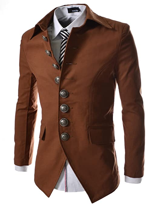 Men's Steampunk Costume Essentials t 8 Button Front Blazer Jacket $59.50 AT vintagedancer.com