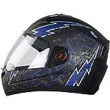 Steelbird SBA-1 R2K LIVE Full Face Helmet in Matt Finish with Plain Visor (Medium 580 MM, Matt Black/Grey)