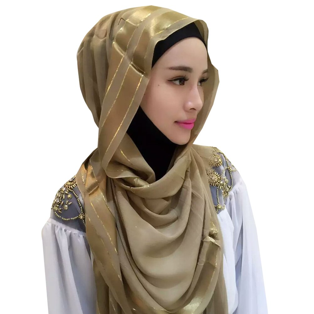 hibote Muslim women nano-silk scarf thin section fashion simple Hijab / 180 * 70cm white hibote network technology Co. Ltd Q161012MSLGT0203-X