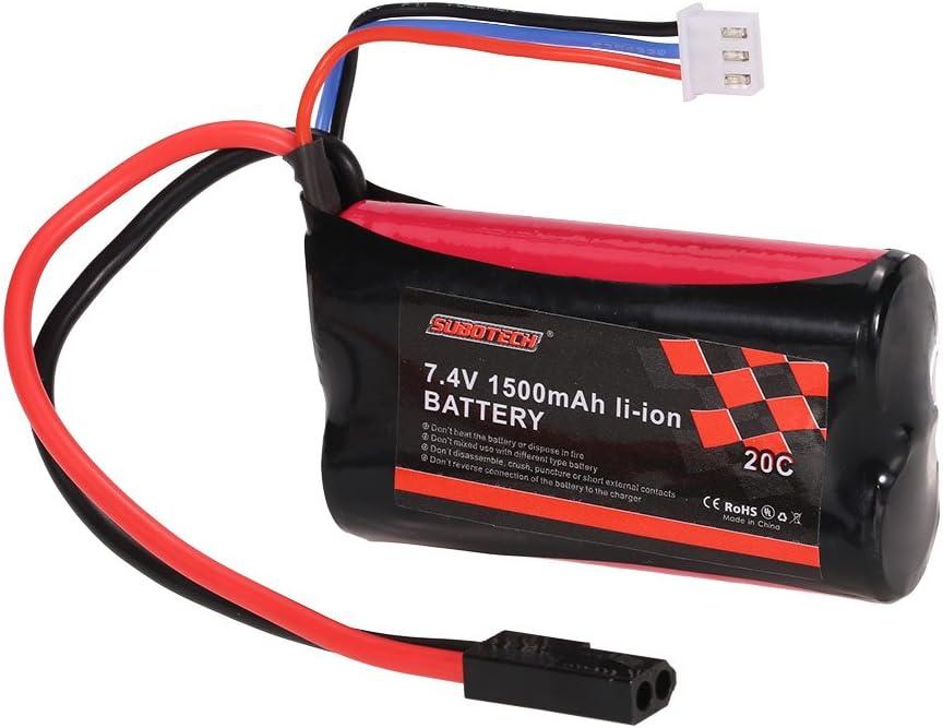 Goolsky Batería del Li-Ion de SUBOTECH 7.4V 1500mAh 20C para El Coche de SUBOTECH BG1506 BG1507 BG1513 RC