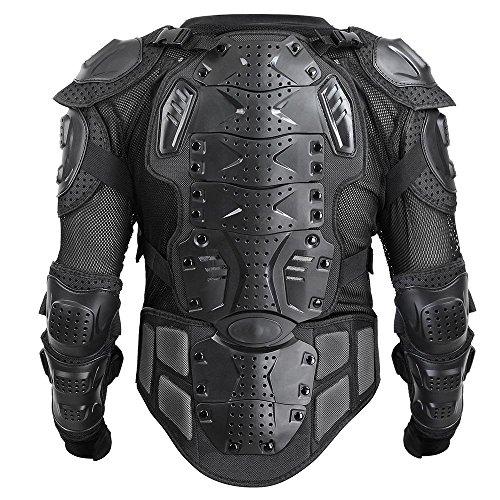 CHIMAERA Powersports Motocross Motorcycle ATV Dirt Bike Body Armor Protective Jacket Upper Body (Black) (XXX-Large)