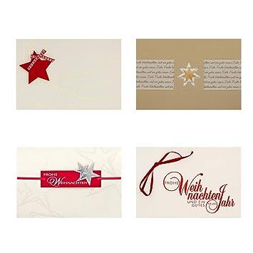Einlegeblätter Für Weihnachtskarten.8 Stück Weihnachtskarten 4 Deluxe Motive á 2 Karten Inklusive