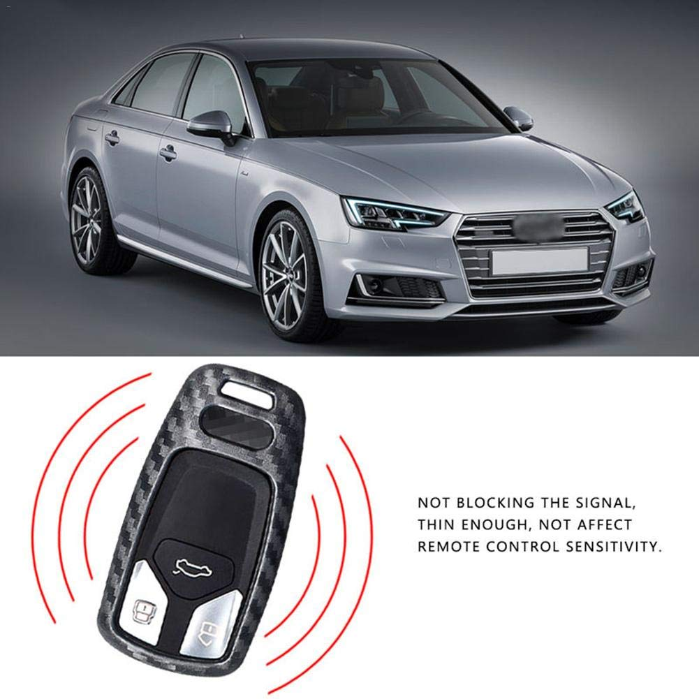 juman634 Funda Inteligente de Fibra de Carbono Car Styling Car para Audi A4 Nuevo A4L A5 A6L QT S5 S7 Q7 TTS Protecci/ón autom/ática Llave Protectora C/áscara Clave Accesorios