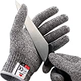 NoCry Cut Resistant Gloves - Ambidextrous, Food Grade, High Performance Level 5 Protection. Size Large, Free Ebook Included!