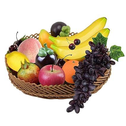 14 Frutas Artificiales Frutas Decorativas Fruta Artificial Decoraciones Plástico