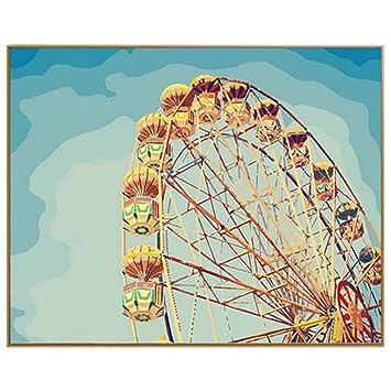 HAJKSDS Pintura por Numeros Bricolaje Pintura Al Óleo por Los Kits ...