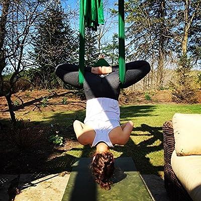 5 Metros Yoga DIY equipo el yoga antigravedad Hamaca Correa volar para Yoga Pilates aérea el equipo de la danza aérea Aerial Silks Solamente los ...