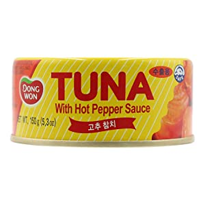 Dongwon, Tuna With Hot Pepper Sauce, 5.29 Ounce 4-cans