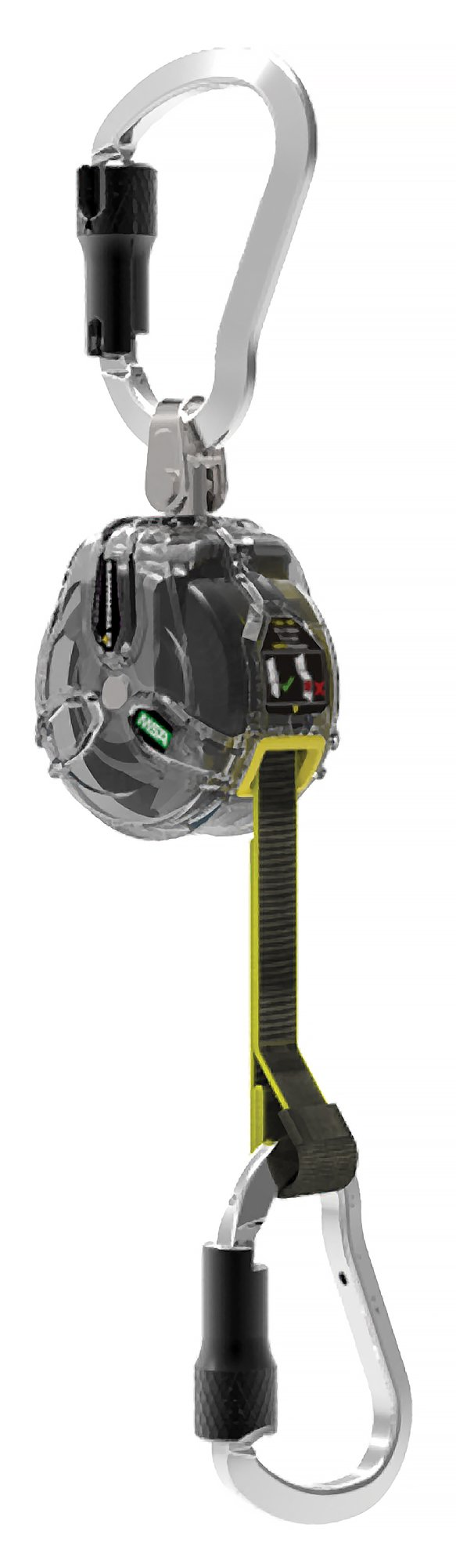 MSA Safety 63011-00N Latchways Mini PFL, Single-Leg, Triple-Lock Carabiner (Top), 6' (1.8 m), Clear, Small