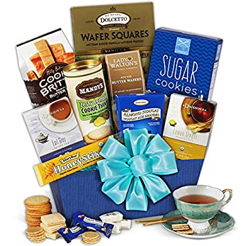 Amazon.com : Tea & Cookies Gift Basket Classic : Gourmet Tea Gifts ...