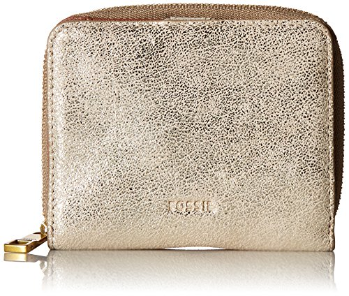 Fossil Women's Emma Rfid Mini Multifunction Wallet, Metallic, One Size by Fossil