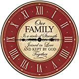 Wedding Anniversary Gifts for parents Modern Decorative Wall Clocks Housewarming Anniversary Gift ideas for Couple Our Family is a circle of Strength 12