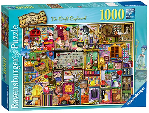 Ravensburger The Craft Cupboard Puzzle 1000 Piece Jigsaw Puzzle for Adults - Every piece is unique, Softclick technology Means Pieces Fit Together Perfectly (Jigsaw Ravensburger Christmas Puzzles)