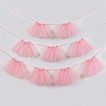 Amazon.com: Mini falda de tutú de tul rosa, princesa rosa ...