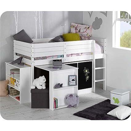 semi Juego de cama elevada Paraiso Color Blanco