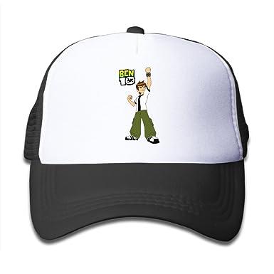 e417b2125e023 Kids Ben10 100% Nylon Mesh Caps One Size Fits Most Adjustable Fashion Hat -  Black -: Amazon.co.uk: Clothing