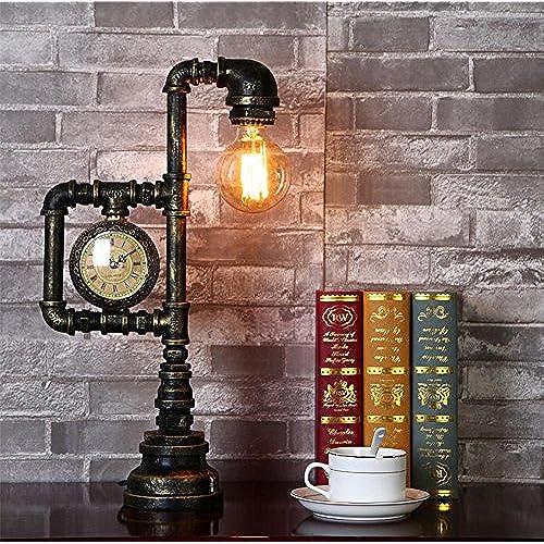 amp;m H Industriel Vintage Lampe Rustique Lampes De Table Fer Bureau 53q4cRjLA