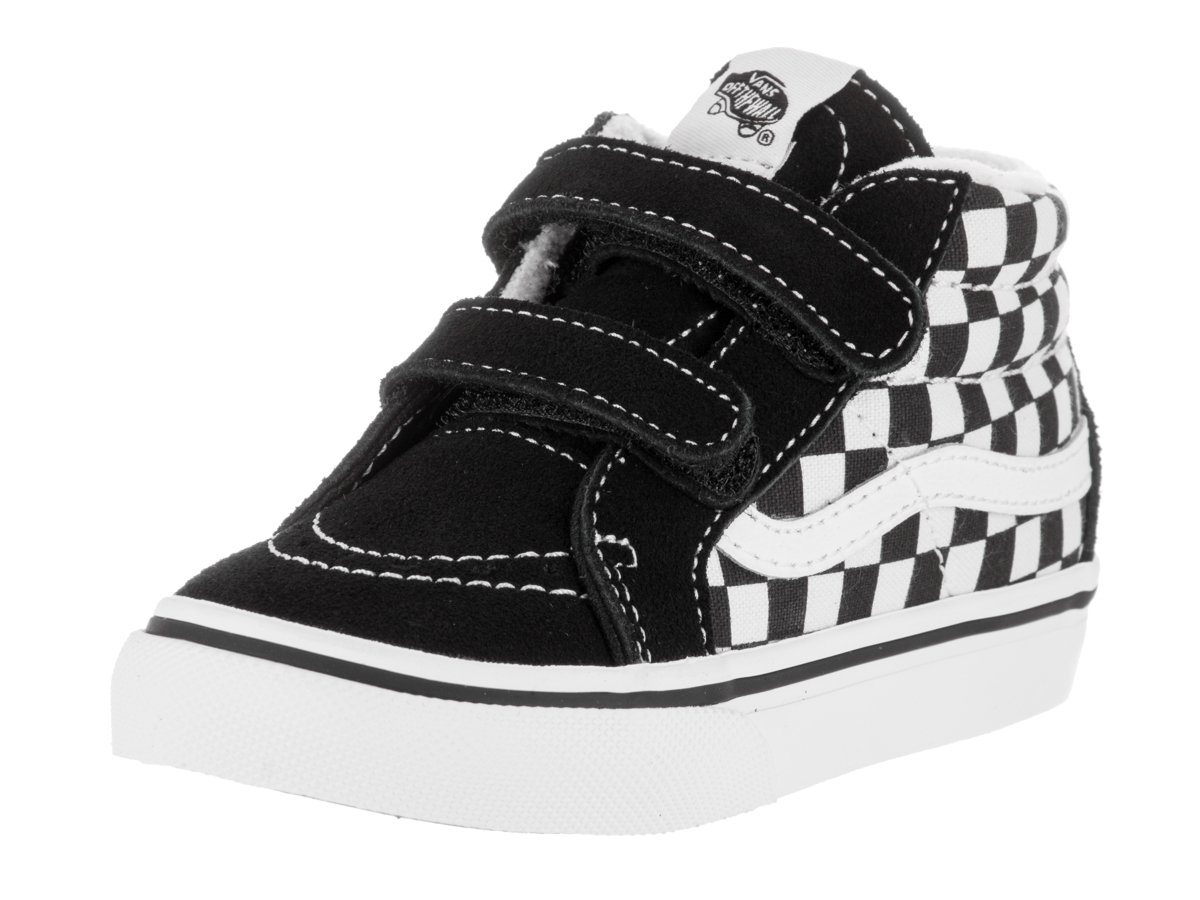 Vans Kids Unisex Sk8-Mid Reissue V (Toddler) (Checkerboard) Black/True White Sneaker 6 Toddler M