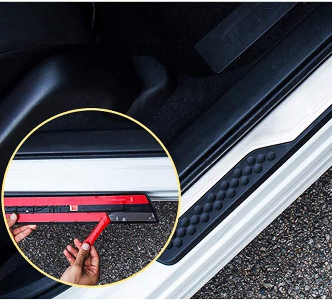 YAVEIL Car Door Sill Scuff Guard Threshold Cover Pedal,for Honda CRV 2017-2020,Stainless Kick Plates Non slip Anti scratch Accessories,4Pcs.