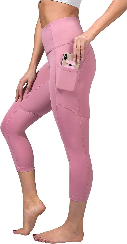 Yogalicious High Waist Squat Proof Yoga Capri Leggings with Pockets for Women