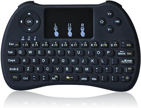 Otha H9 2.4 GHz Mini Teclado Inalámbrico con Touchpad Ratón Juego mango para Windows 10/PC/Pad/Google Android TV Box/Mini PC/Smart TV/ordenador portátil PC volar ratón mando a distancia: Amazon.es: Electrónica