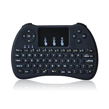 Otha H9 2.4 GHz Mini Teclado Inalámbrico con Touchpad Ratón Juego mango para Windows 10/