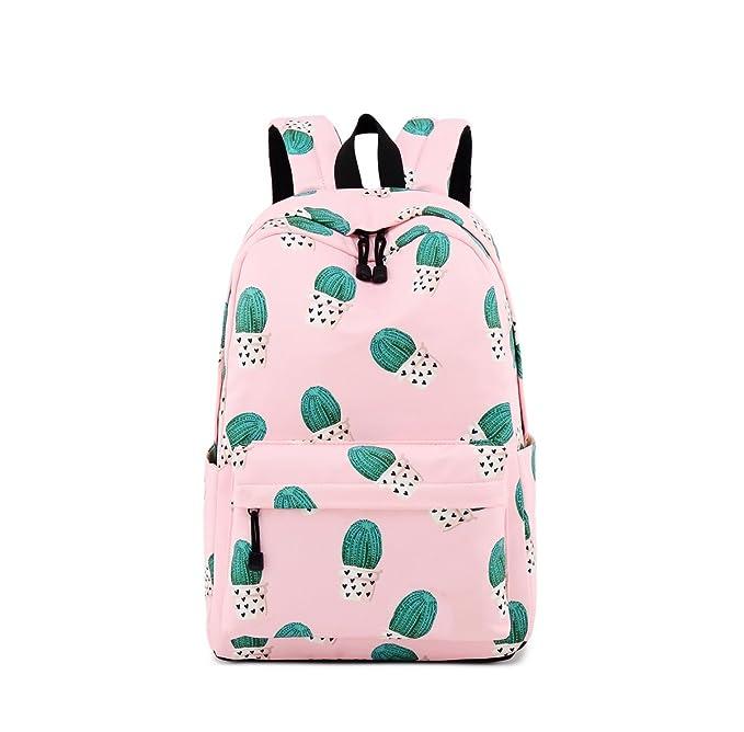 Amazon.com | Acmebon Waterproof Lightweight Fashion School Backpack for Boys and Girls Cute Print Bookbag Beige | Kids Backpacks