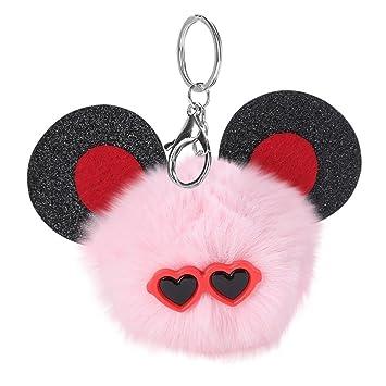 zloskw 10 cm Cute ratón llavero colgante creativo llavero ...