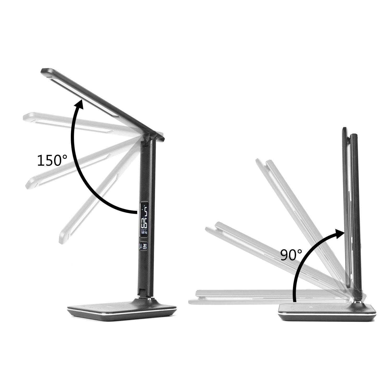 Marrone WILIT U13 9W LED Lampada da scrivania con porta di ricarica USB 9W