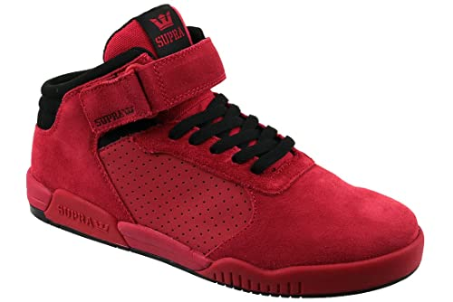 02355a7ad818 Supra Mens Ellington Strap Red Black Shoes  Amazon.co.uk  Shoes   Bags