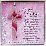 The Grandparent Gift Made Like You Handmade Glass Cross for Sister