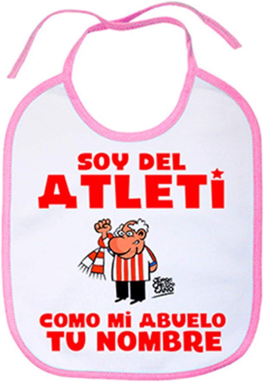 Rosa Babero soy del Atleti Atl/ético de Madrid como mi abuelo personalizable con nombre