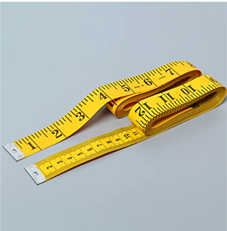 2pcs Soft Tape Measurement Sewing Tailor Ruler Measuring Tape Measure Yellow 3m //120-inch