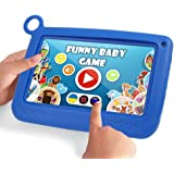 YELLYOUTH Education Kids Tablet PC 7 inch Android IPS HD Display with WiFi and Camera Parental Control Software 3D Game Cartoon Video Supported RAM 1GB ROM 8GB for Learning (Blue)