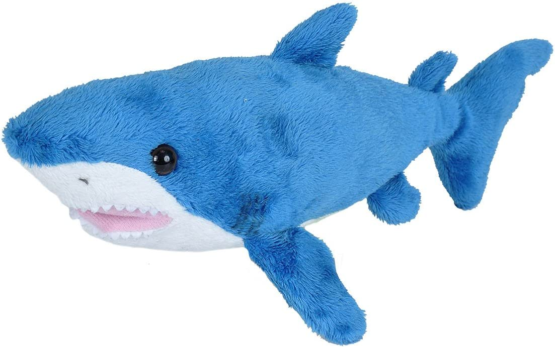 Wild Republic Mako Shark Plush, Stuffed Animal, Plush Toy, Gifts for Kids, Sea Critters 11 Inches