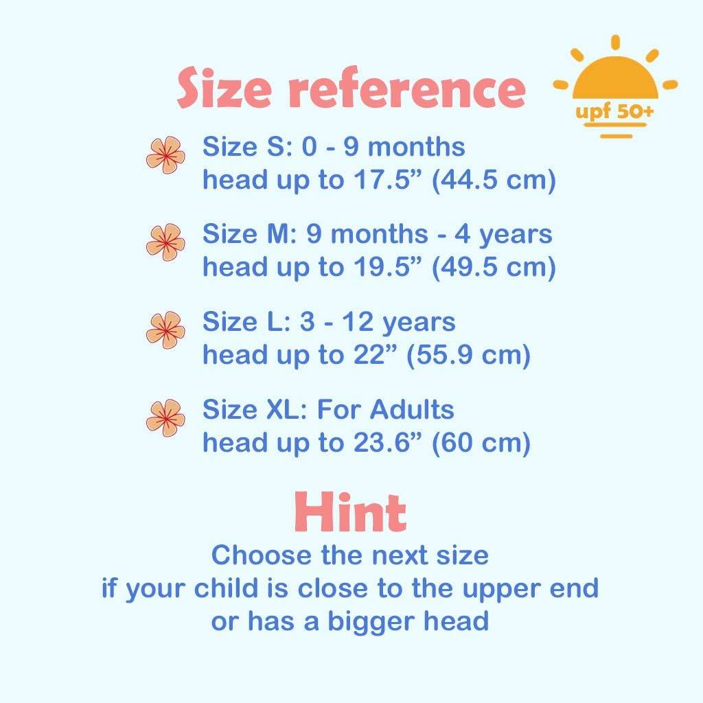 Ami /& Li tots Beb/é Sombrero de Sol S/úper Ligero Ni/ños Ajustable Ultra Thin Respirable Bob para Beb/é Ni/ña Ni/ño Infantil Ni/ños Peque/ños UPF 50