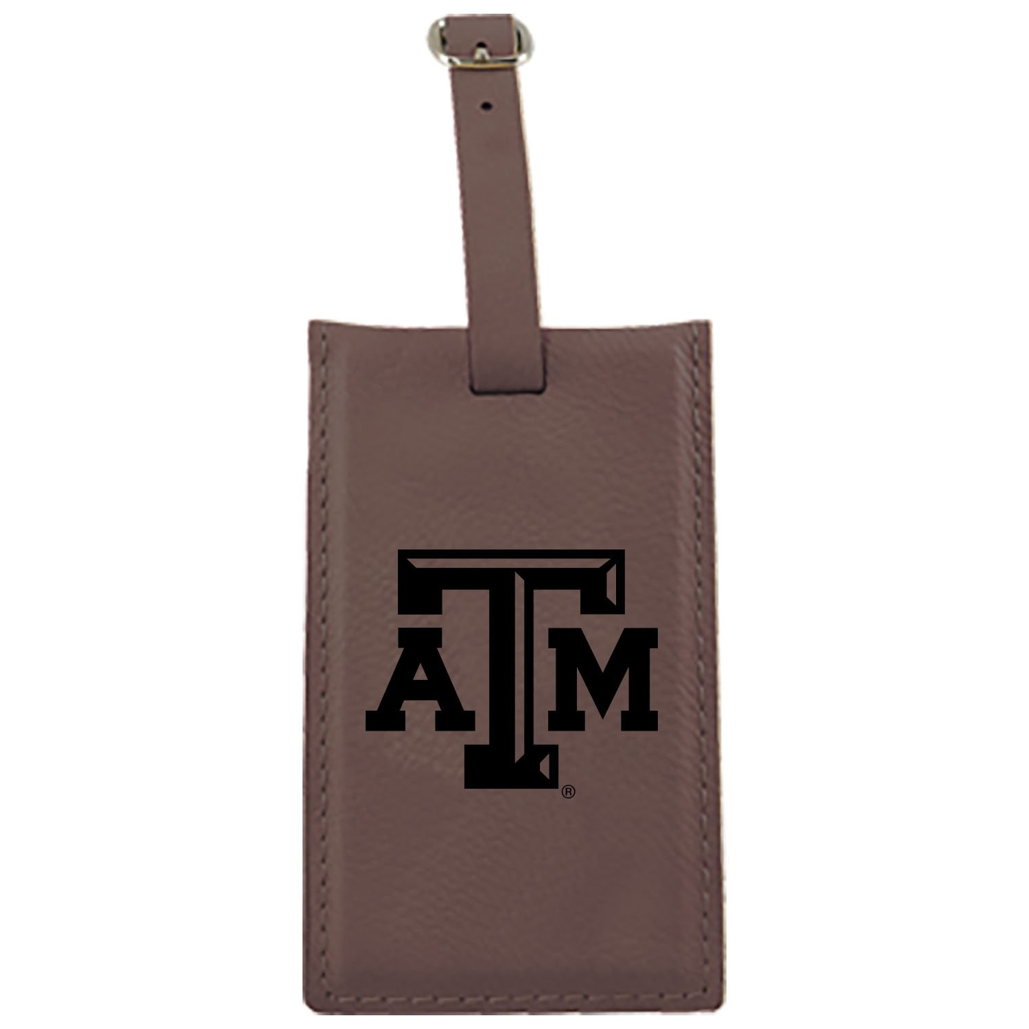 Texas A & M University – Leatherette Luggage tag-brown B013VZFT2O