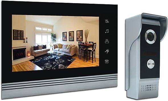 amocam 7 Vídeo Intercom Systems, Aluminum Alloy Acrylic panel doorp/ Smartphone, Wired Video Door Phone Doorbell Kits, Support Monitoring, Unlock, Dual Way Door Intercom, IR Night Vision Camera: Amazon.es: Electrónica