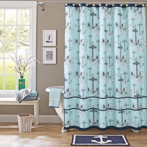 Better Homes & Gardens Nautical Fabric Shower Curtain from Better Homes & Gardens