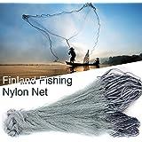 Nylon Fishing Net, Hand Throw Fishing Net Premium Cast Net Portable Monofilament Net for Fish Catching, 500g