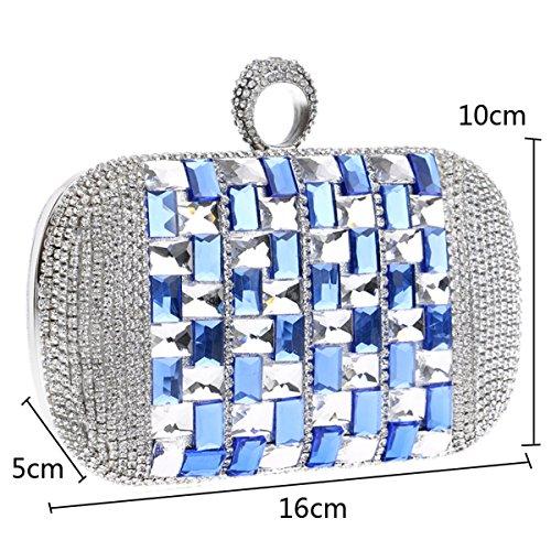 femme à 2x4x6inch Sac banquet main strass crystal B C pour embrayage de Womens sacs de soirée Sac 5x10x16cm qYqw7BH