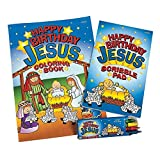 HAPPY BIRTHDAY JESUS COLORING SETS (1 DOZEN) - BULK