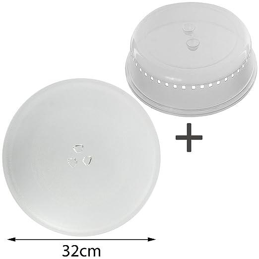 Spares2go plato universal para microondas (32 cm) (+ funda de ...