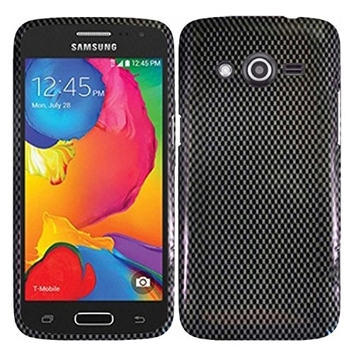 HR Wireless Design Cover for Samsung Galaxy Avant - Retail Packaging - Carbon Fiber (Faceplate Protector Fiber Carbon)
