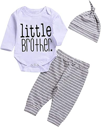 For 0-24 Months Baby,DIGOOD Toddler Newborn Baby Boys Girls Simple Letter Romper+Hat 2Pcs Set Clothes